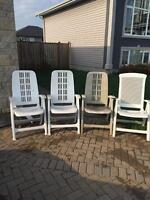 Four Patio Recling Chairs