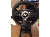 Logitech GT Force Pro Steering Wheel With Stand