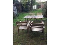 Outdoor table with 6 chairs for Garden Patio Balcony