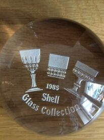1985 Glass paperweight
