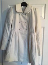 Cream coat for sale £12 ONO