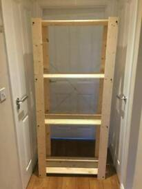 Ikea wooden storage shelf
