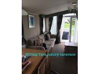 Luxury caravan to rent in Craig Tara