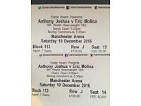 Anthony Joshua vs Eric Molina - Open to offers - Boxing Manchester