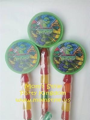 Turtle Ninjas Gummypop birthday party favor