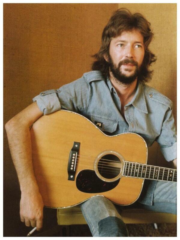 Eric Clapton - POSTER - Martin Acoustic Guitar - AMAZING wall art print