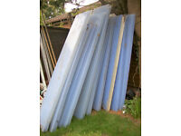 POLYCARBONATE ROOFING PANELS X12.FREE DELI VERY B,MOUTH AND LYMINGTON AREAS