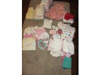 Baby girl clothes bundle (0-3 months). 80 pieces