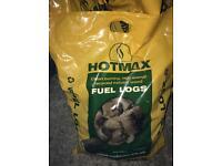 HOTMAX clean burning fuel logs