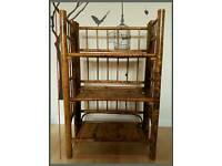 Bamboo/wicker Shelf Unit 3 Tier storage