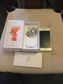 iPhone 6s rose gold cracked screen