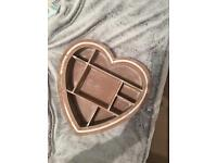 Heart shaped wall decoration