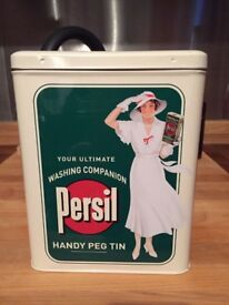 Persil metal tin complete with new pegs