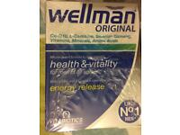 Brand New 4X Vitabiotics Wellman Original 30 Health Supplement Tablets RRP£6.29 Each