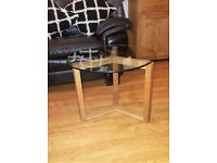 House of Fraser Wood and Glass Coffee Table.