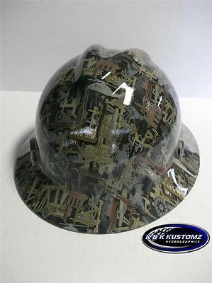 New Custom Msa V Gard Full Brim Hard Hat Oilfield Camo Pattern