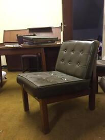 Cushioned retro mid century chair