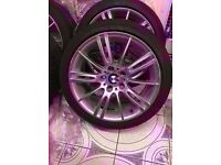 Bmw Mv3 Genuine Alloy Wheel Front 8j with RUN FLAT TYRE SINGLE WHEEL CAN POST (1 wheel)