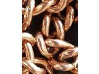 Antique rose gold 9ct albert chain 42g £800 ono