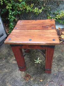Sheesham wood jali style side table x 3