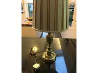 Brass lamp bases with Laura Ashley shades