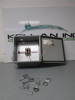 Hoffman J Box Enclosure A10106ch W Bussmann Frn R1 Fuses F1 F2 Installed