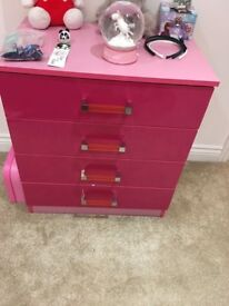 Pink gloss Children's chest of drawers