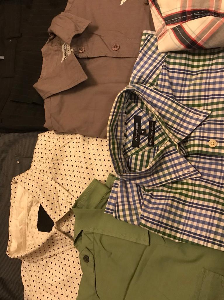 Bundle of mens clothes 5 shirts and 2