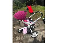 Quinny moodd pushchair and carry cot