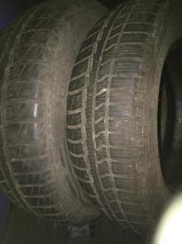 Pair of 165-70-13 vederstein winter tyres