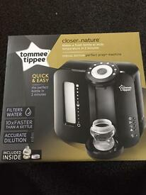 Tommee Tippee Perfect Prep Machine and Tommee Tippee Blue Bottles