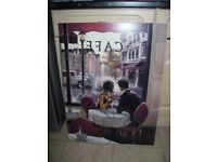 Picture French Cafe Painting Kitchen Dining Room