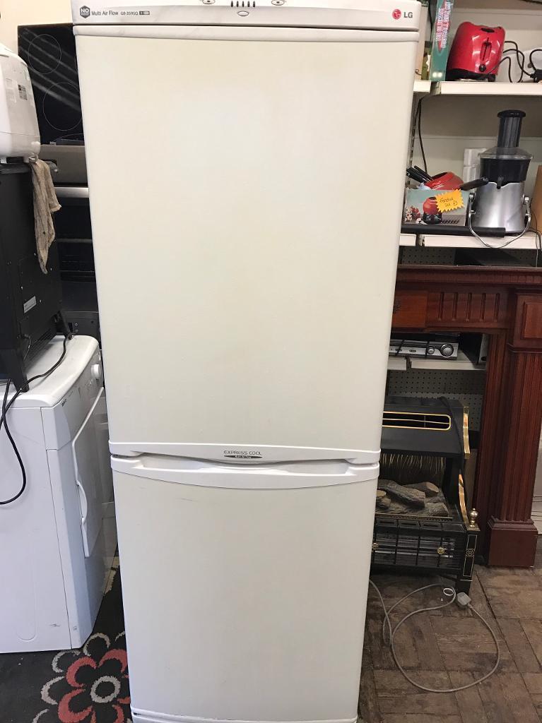 White 6ft lg express cool multi air flow fridge freezer