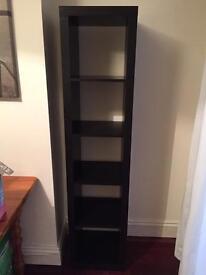 IKEA black wooden storage unit