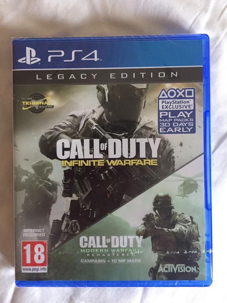 Call of Duty Infinite Warfare Legacy Edition PS4 INCL TERMINAL MAP! **SEALED BRAND NEW**