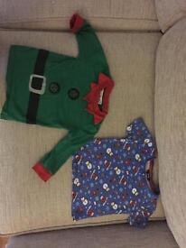 2 x Boys 12-18 months Christmas tops