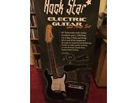 Rockstar Electric Guitar Starter Bundle (Guitar, amp, bag, picks etc)