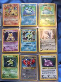 Assorted pokemon cards- approx 500, 50 holographic cards