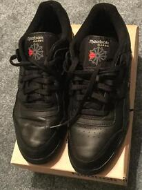 AUTHENTIC MENS REEBOK CLASSIC LEATHER TRAINERS BLACK