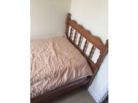 Single pine bedframe with mattress if needed all in really good condition.