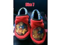 Fireman Sam slippers