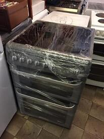 Reconditioned Silver Hotpoint 60cm Electric Cooker