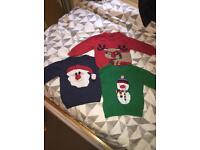 Next Christmas Jumpers 12-18 months