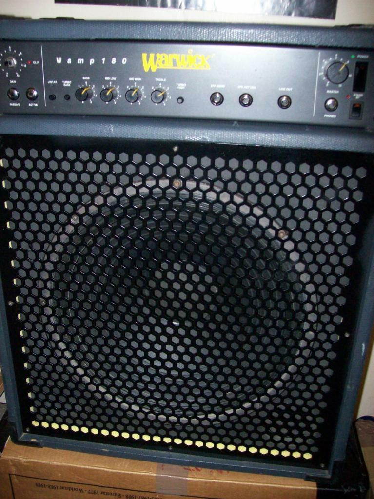 warwick wamp 180 bass combo amplifier 15 speaker in prestwick south ayrshire gumtree. Black Bedroom Furniture Sets. Home Design Ideas