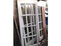 Solid English oak doors