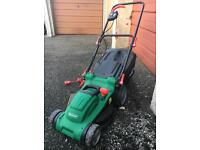 Qualcast electric lawnmower and strimmer