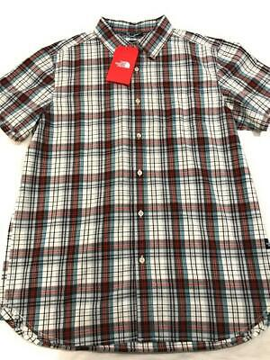New The North Face Men's Hammetts Short Sleeve Button Down Shirt, Plaid, Large