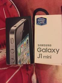 iPhone 4 and Samsung galaxy j1 mini