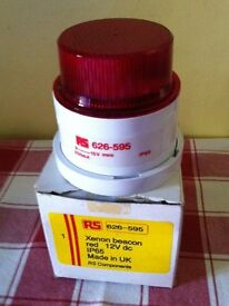 XENON BEACON RED 12V (IP56) NEW, UNUSED, BOXED - bargain for £ 10