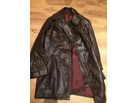 Vintage, 1970 brown leather jacket, size 40 fits XL